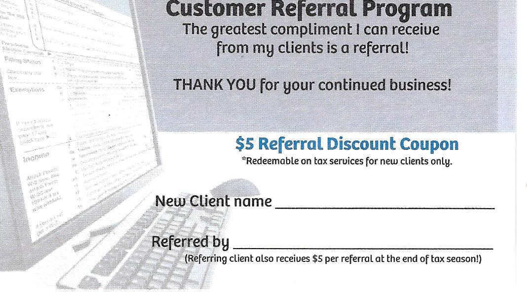Referral Coupon | Morrison Tax & Accounting